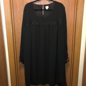 Gently used A New Day sz 3x Black and Lace Dress!!